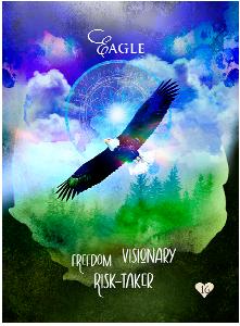 Multidimensional Oracle Card Eagle