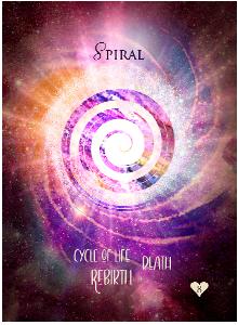Multidimensional Oracle Card Spiral
