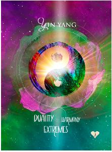 Multidimensional Oracle Card Yin-Yang